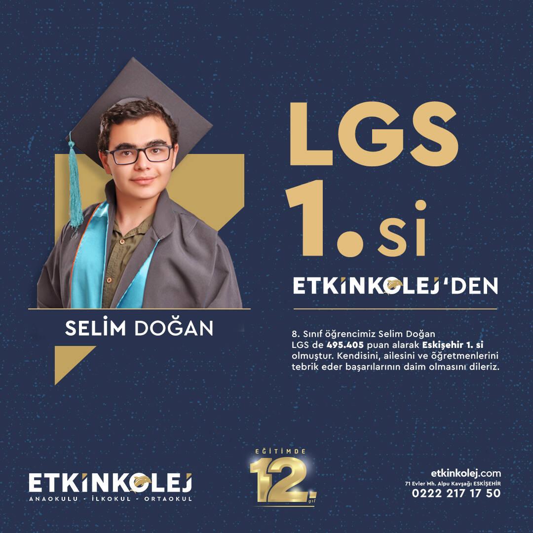 Etkin Kolej Eskişehir LGS Birincisi