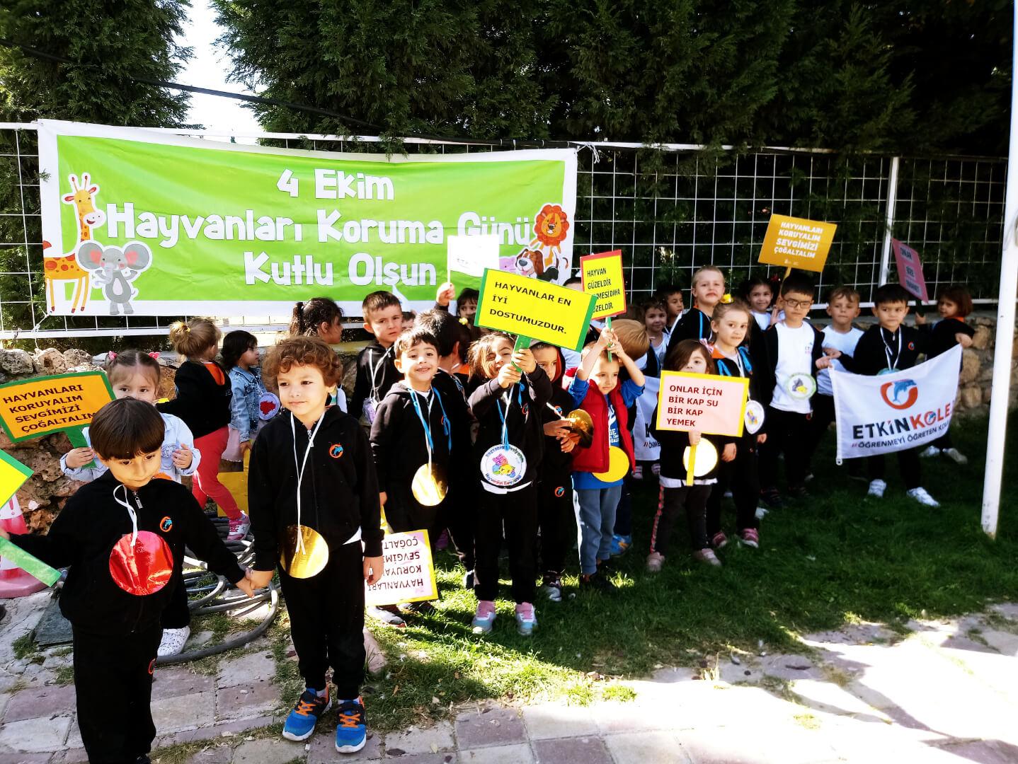 Etkin Kolej | ''Hayvanları Koruma Günü'' Anaokulu Gezisi