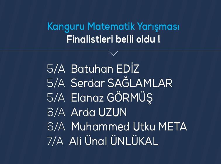 Etkin Kolej | Kanguru Matematik Yarışması Finalistleri belli oldu !