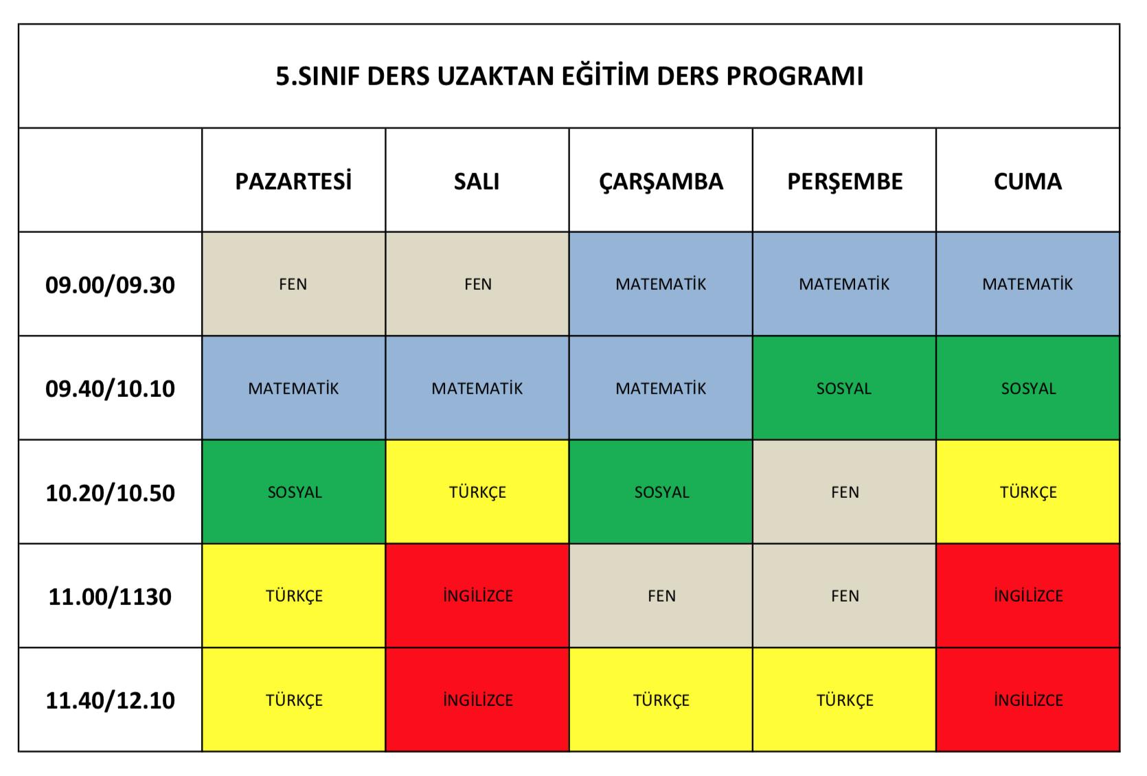 Etkin Kolej   Eskişehir Etkin Kolej Online Eğitim Canlı Ders Programı