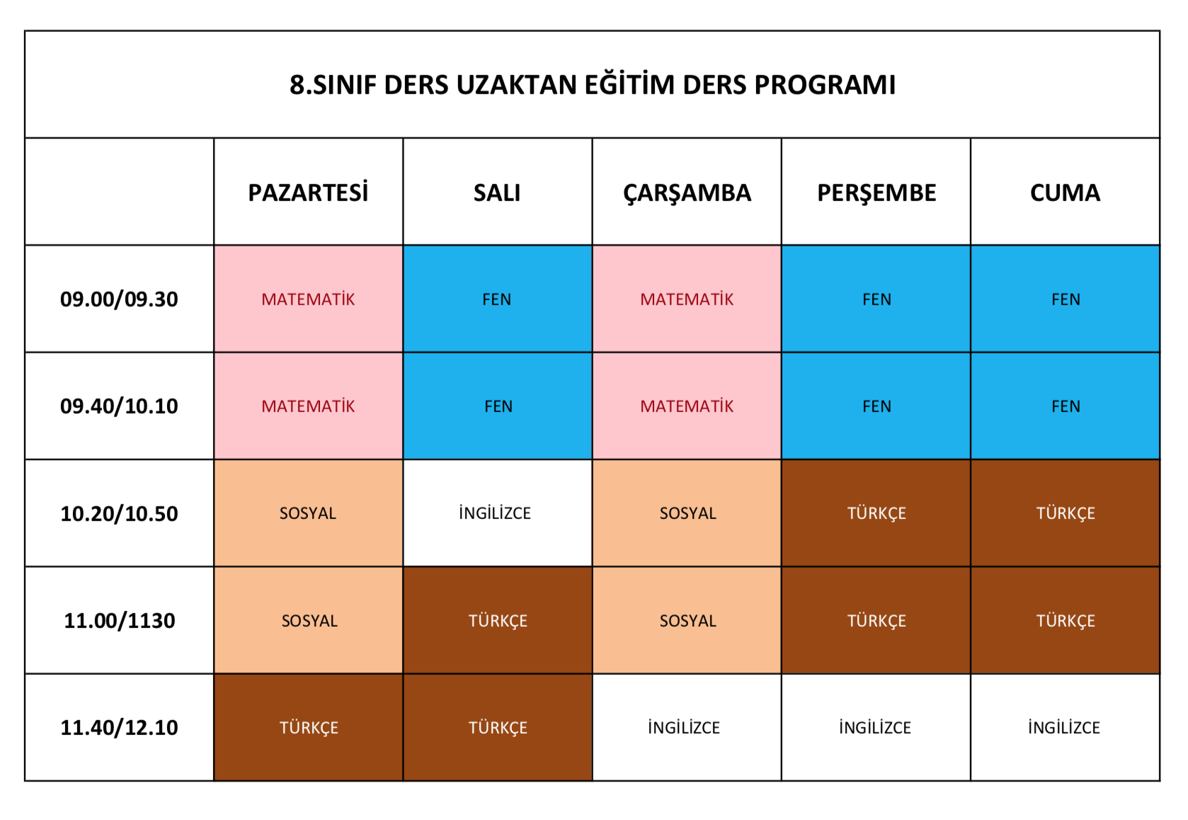 Etkin Kolej | Eskişehir Etkin Kolej Online Eğitim Canlı Ders Programı