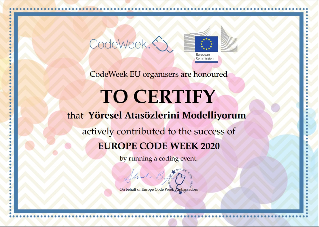 Etkin Kolej | AB Kod Haftası (CodeWeek) Etkinlikleri