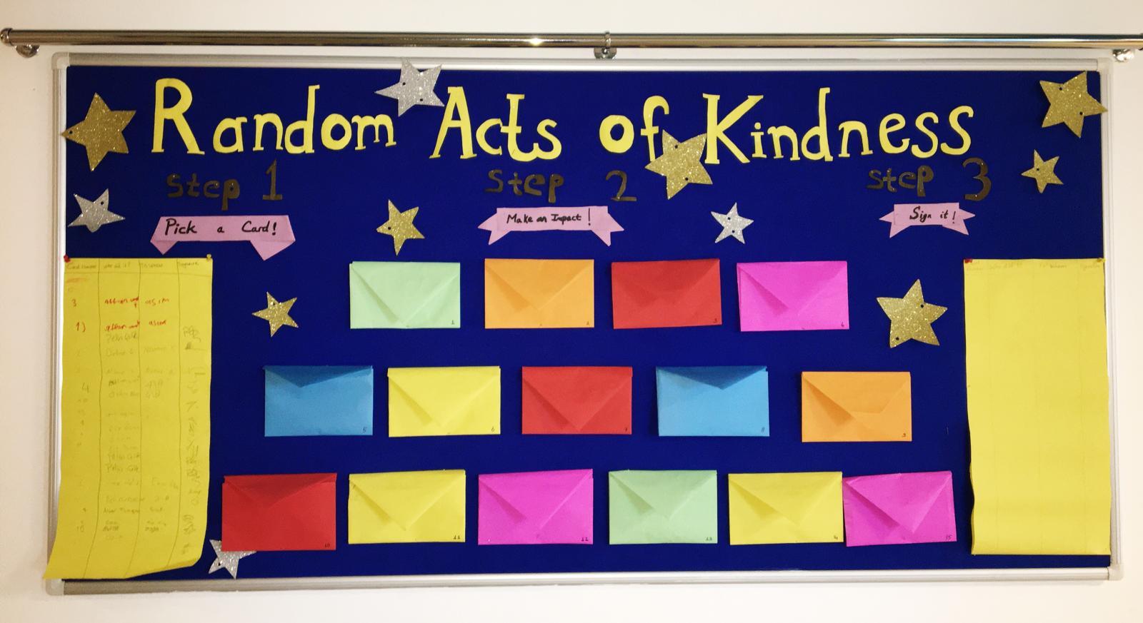 Etkin Kolej | Random Acts of Kindness (İyilik Dolu Pano)